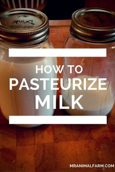 How to Pasteurize Milk.  Pasteurizing milk is easy to do.