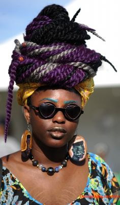 Afropunk 2015 Streetstyle Protective Hairstyles, Braided Hairstyles, African Inspired Fashion, African Fashion, African Nations, Afro Punk, Urban Fashion, Black Girls, Natural Hair Styles