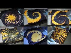 """Six Different Ways To Apply Dye To """"THE SPIRAL"""" tie dye spin - YouTube"""