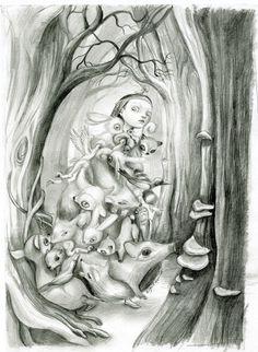 Blanche Neige - Benjamin Lacombe par Benjamin Lacombe - Illustration
