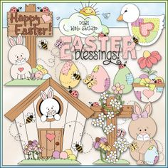 Easter Time 1 - NE Trina Clark Clip Art : Digi Web Studio, Clip Art, Printable Crafts & Digital Scrapbooking!