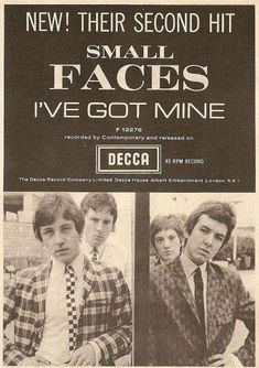Ronnie Lane, Gerry And The Pacemakers, Steve Marriott, Rockabilly Music, Tailor Made Suits, Dusty Springfield, The Kinks, Record Company, Concert Posters