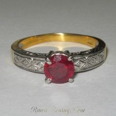 Cincin Ruby Silver 925 Ring 9US