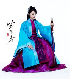 Looking Forward To: Sword and Flower Korean Traditional Dress, Traditional Dresses, Korean Dress, Korean Outfits, Historical Costume, Historical Clothing, Chinese Clothing, Wattpad, Hanfu