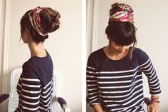 Scarf with sock bun