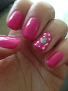 Disney nails....i think i would do red nails yellow dots and black Mickey head