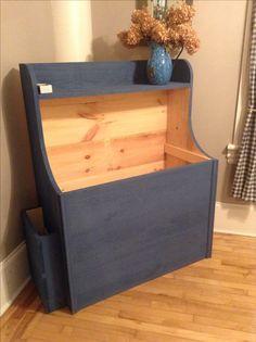Classic rough pine firewood box.