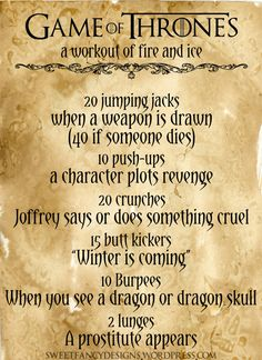 """""""Workout of Fire and Ice"""" I am SOOO going to do this!"""