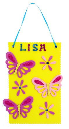 Nicole™ Crafts Personalized Butterfly Plaque #kids #crafts