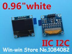 """1pcs 0.96""""white 0.96 inch OLED module  New 128X64 OLED LCD LED Display Module For Arduino 0.96""""  IIC  I2C Communicate"""