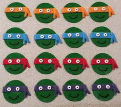 mutant ninja, cupcak topper, turtl cupcak, ninja turtles, cupcake toppers