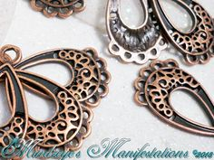 {30} Antq Copper Finish Petite Chandeliers 25.5x13.5mm. Starting at $5 on Tophatter.com!