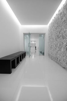 Genesis Technology by Project-BD, floating ceiling with indirect lighting _ Ceiling Design Living Room, Home Ceiling, False Ceiling Design, Cove Lighting Ceiling, Modern Ceiling Design, Corridor Lighting, Ceiling Light Design, Office Lighting, Interior Lighting