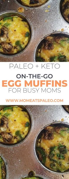 Homemade Paleo Breakfast Egg Muffins are Keto, AND easy to make. Enjoy a nutritious breakfast even on those busy mornings. Just grab-in-go! Nutritious Breakfast, Paleo Breakfast, Breakfast Recipes, Breakfast Muffins, Paleo Egg Muffins, Appetizer Recipes, Dinner Recipes, Dinner Ideas, Pancakes For Dinner