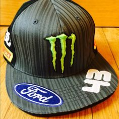 Monster Energy Drink Race SnapBack SnapBack. Monster Energy Drink and Ford Sponsored hat. Accessories Hats