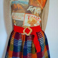 vintage red elastic bandage belt . fully adjustable . gold buckle - buy at www.nesteggvintage.etsy.com