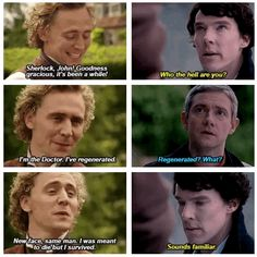 "(gif set) ""I'm the Doctor. I've regenerated."" 