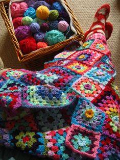 colorful granny squares - no link