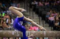Morgan Hurd her floor routine also put her amazing flexibility front and center. VERY talented. Loved watching her routines.