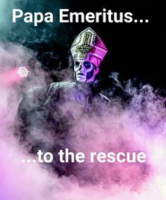 Papa Emeritus III Ghost bc Meme