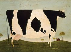Vermont Cow warren kimble http://warrenkimble.com/folk-art/