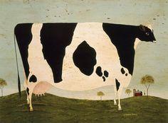 Vermont Cow warren kimble http://warrenkimble.com/folk-art/