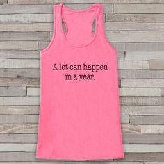 599fd0547b7061 New Years Tank Top - Happy New Year - Womens Tank Top - Happy New Year Tank  - Pink Tank - Pink Tank Top - Funny New Years - Workout Top
