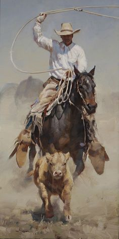 """On the Chase"" by Jason Rich (Cowboy Artist)"