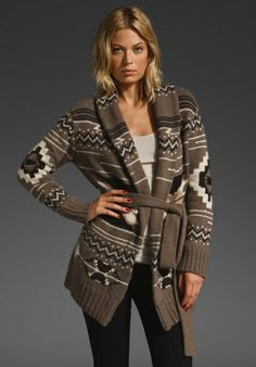 autumn cashmere navajo sweater