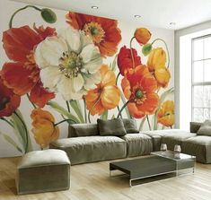 Wall Drawing Painting & Drawing Mural Art Wall Murals Abstract Flowers Painting Lessons Beaux Arts Pictures To Paint Flower Art Mural Art, Wall Murals, Wall Art, Abstract Flowers, Wall Wallpaper, Painting Inspiration, Flower Art, Painting & Drawing, Canvas Art