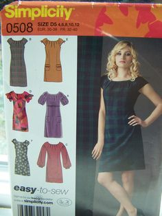 Simplicity 0508 Dress Sewing Pattern  Misses Boho by WitsEndDesign