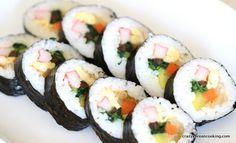 How to make Kimchi Gimbap, Korean Seaweed Rice Roll | Crazy Korean Cooking