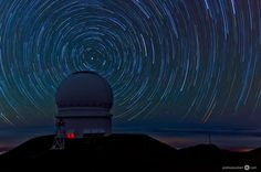 "Photo Credit : Andreas Koeberl This is a picture that was taken during approximately 1.5 hours on Mauna Kea, Big Island, Hawaii. In the foreground, you can see the Canada France Hawaii Telescope. The picture consists of 22 single frames, each taken at f/4, ISO 100, 16 mm & exposure time of 4+ minutes, which makes it a total 90 minutes exposure. I stitched the pictures in Photoshop to create this image.""  Camera Nikon D7000 Focal Length16mm Shutter Speed257 secs Aperturef/4 ISO/Film100"