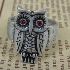 Old Fashioned Owl Shape Animal Ring #favordeal