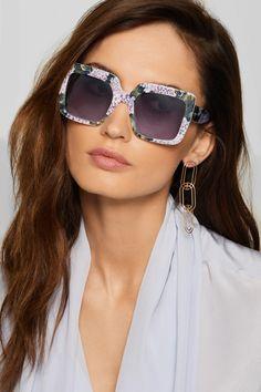 e5ea577dfab Dolce   Gabbana - Square-frame printed acetate sunglasses