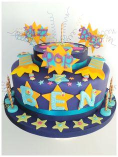 Bright firework cake