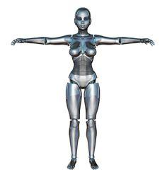Free Illustration: Girl, Woman, Front, Robot, Cyborg - Free Image on Pixabay - 320265