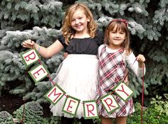 Be Merry Christmas Banner - Holiday Decoration and Photo Prop on Etsy, $14.00