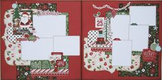 Christmas two page scrapbook layout using the Story of Christmas collection from Echo Park Paper.