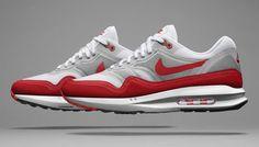 Nike Air Max Lunar1 White/Neutral Grey-Challenge Red