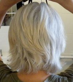 mid length layers look great if your gray is only slightly wavy