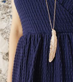 Feather Rose Gold Necklace by Sora Designs on Scoutmob