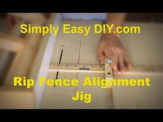 Table Saw Fence Alignment Jig - Meter stick that fits in the mitre slot.