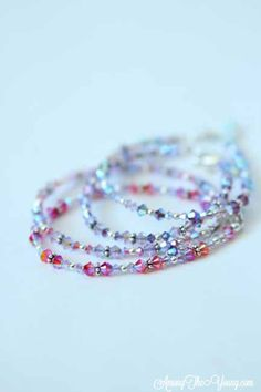 I recently made 20+ Swarovski crystal bracelets for the sweetest lady and had to share how pretty they turned out. Crystal Bracelets, Crystal Jewelry, Sweet Lady, Easy Gifts, Sewing Hacks, Swarovski Crystals, Handmade Gifts, Gift Ideas, Sparkles