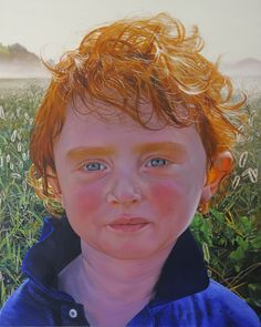 """'Red Boy' oil on canvas 66"""" X 84"""" by Wildbank"""