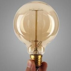 G95 E27 40W Vintage Retro Lampes industrielles Edison Lampes à incandescence 95mm x 138mm #LampIndustrielle
