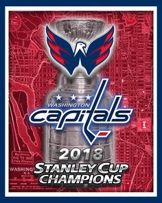 WASHINGTON CAPITALS 2018 Stanley Cup Championship Map Poster b7dbd1ac11c7