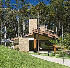 28 fachadas em estilo rústico - Casa