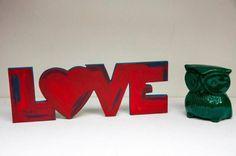 LOVE Palabras en madera!