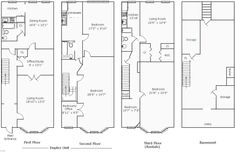 Main Floor Plan 2 For S 727 6 Plex House Plans Narrow Row